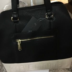 Authentic Steve Madden Black/ Cream Purse
